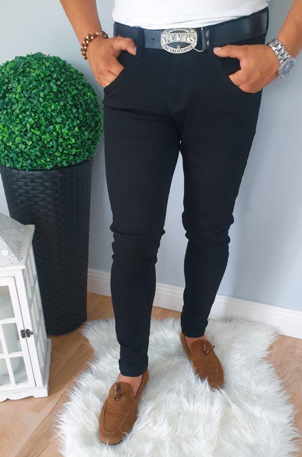 Spodnie jeansowe męskie czarne