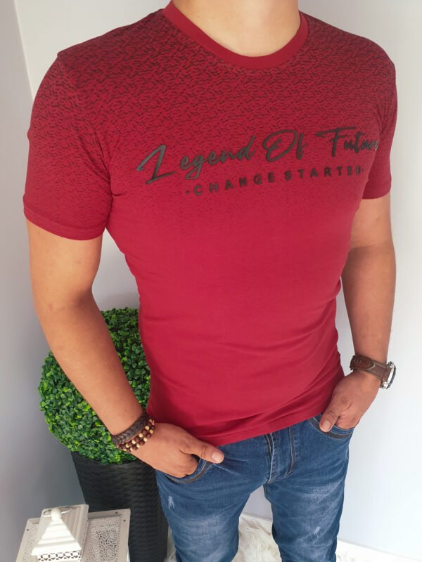 T-shirt męski z nadrukiem czarnym