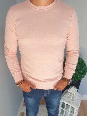 Bluza męska różowa wkładana przez głowę