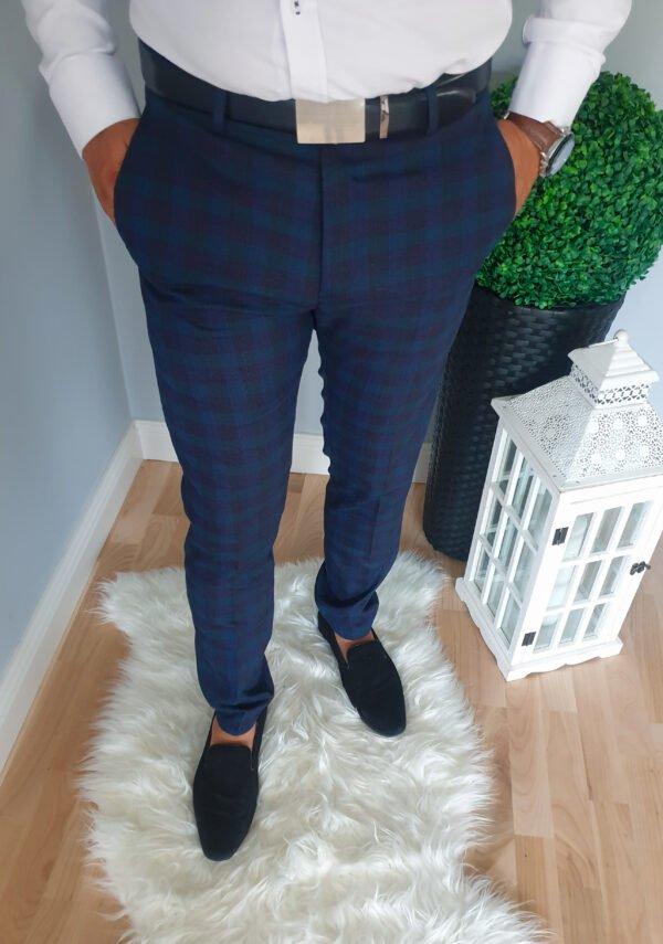 Eleganckie męskie spodnie w kratę