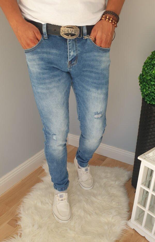 Spodnie jeansowe męskie z dziurami