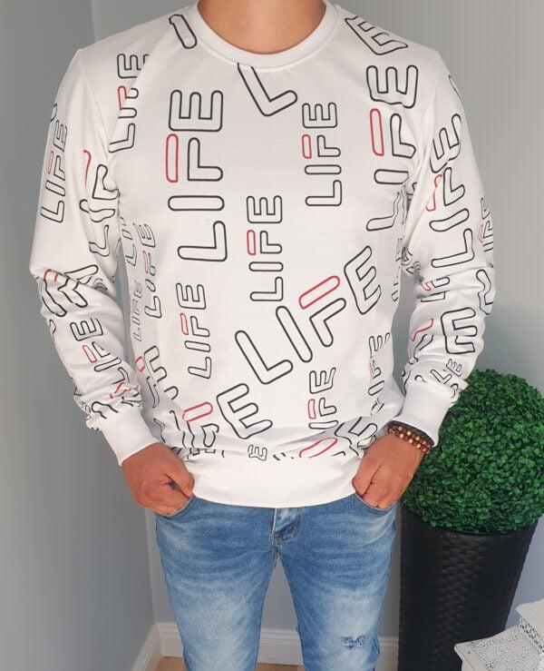 Męska bluza bez kaptura
