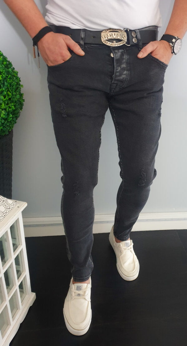 Czarne jeansy męskie skinny bez dziur