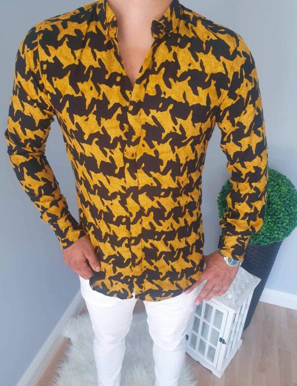Koszula męska z modnymi wzorami