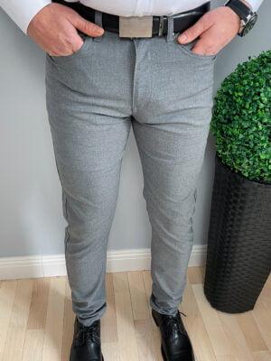 Wizytowe męskie spodnie