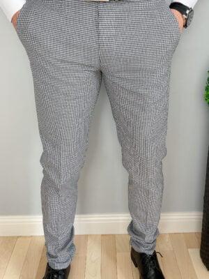 Spodnie męskie w pepitkę