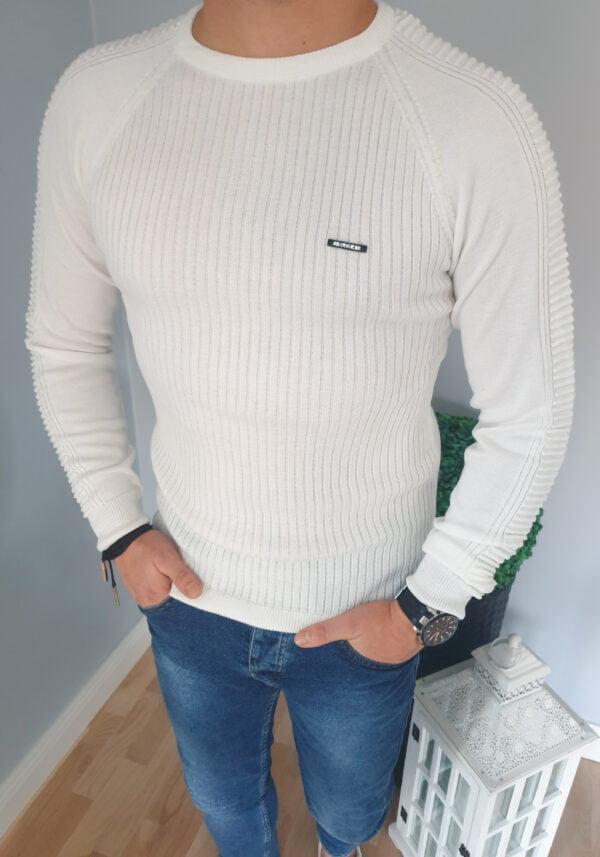 Sweter męski ecru