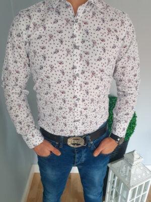 Koszula męska we wzory i długim rękawem