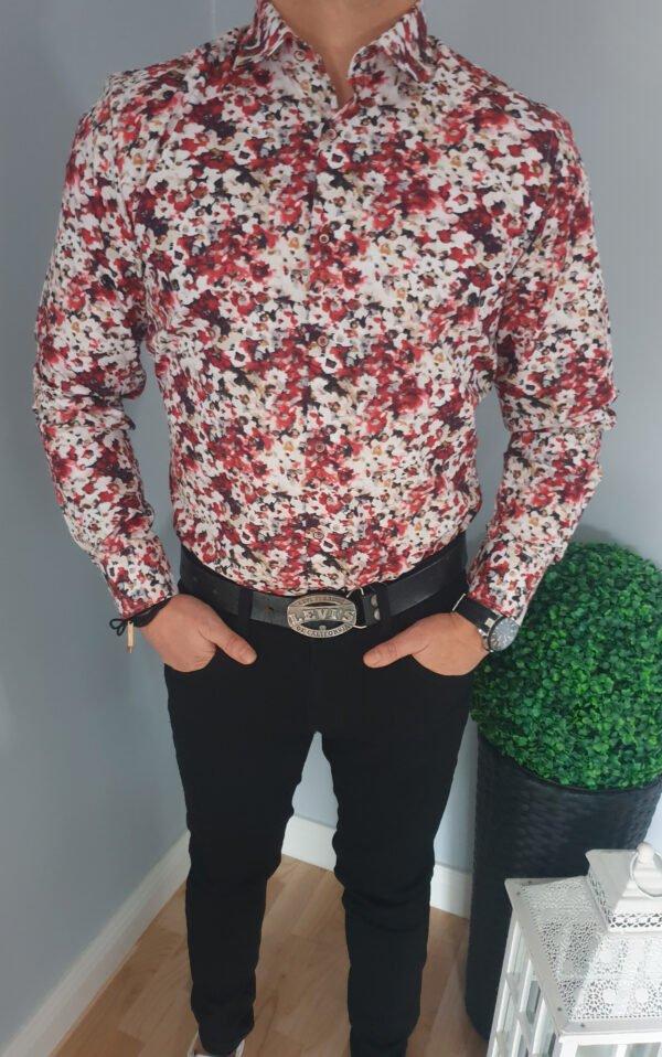 Koszula męska ze wzorem w kwiatki