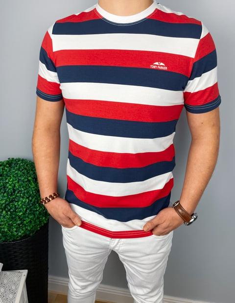 Męska Koszulka w paski