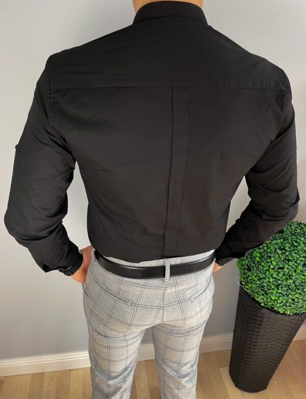 Elegancka koszula męska czarna