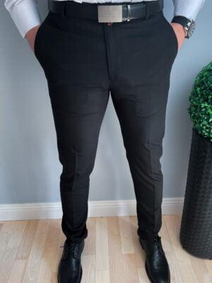 Czarne eleganckie spodnie wizytowe