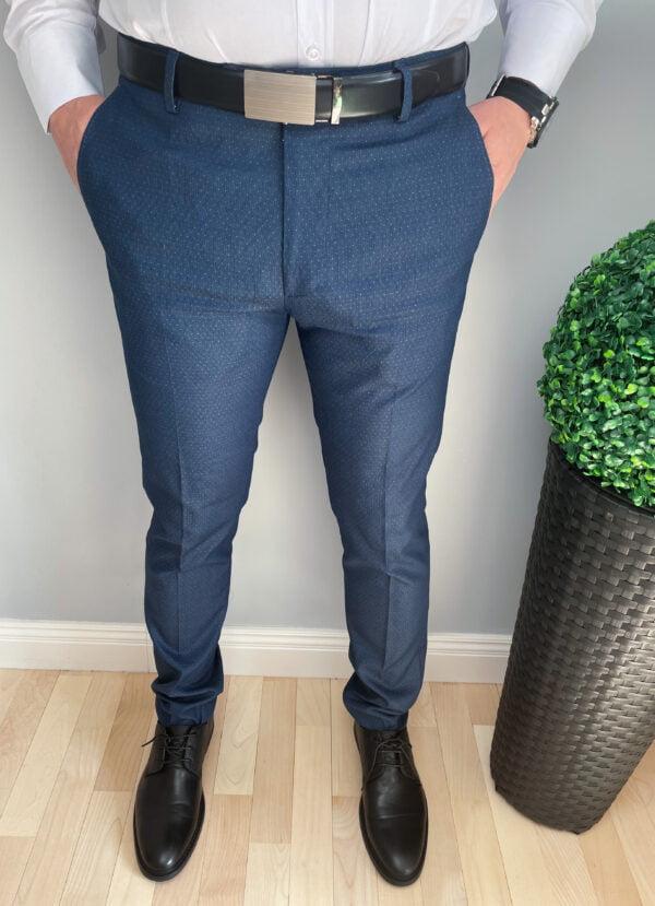 Eleganckie męskie spodnie granatowe