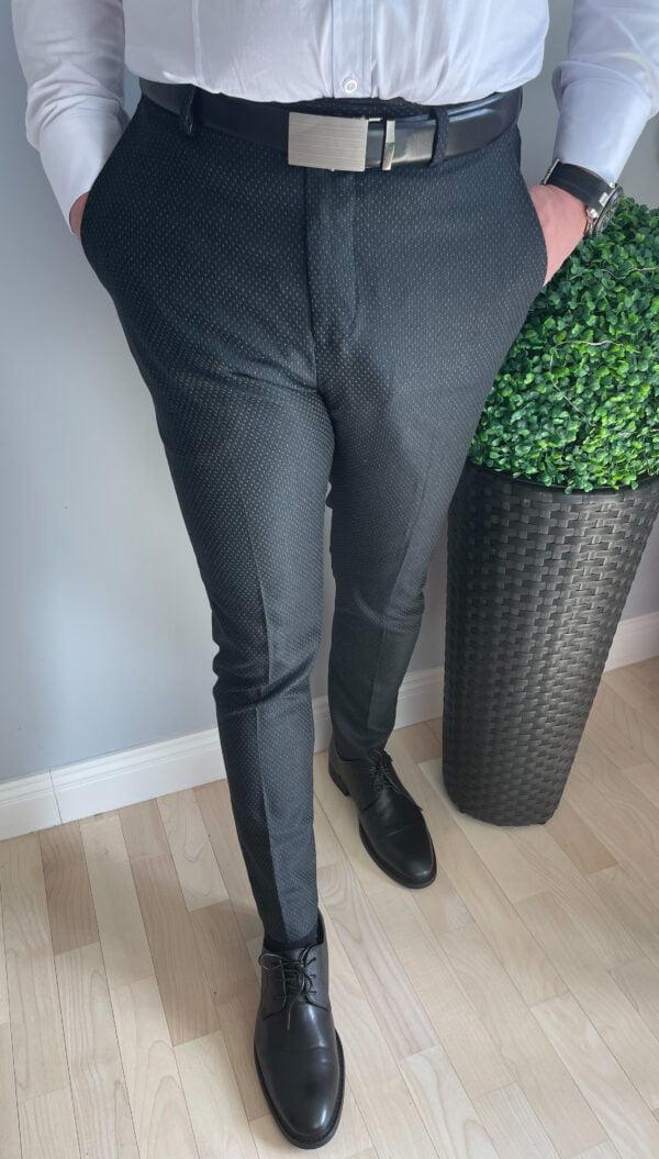 Czarne wizytowe spodnie męskie