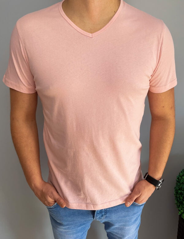 T-shirt Koszulka Męska Różowa