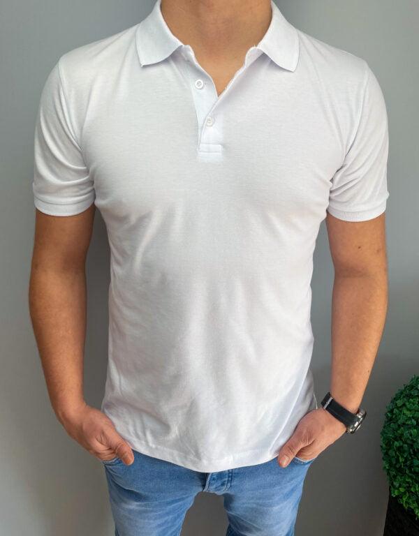 Koszulka męska polo bez nadruku