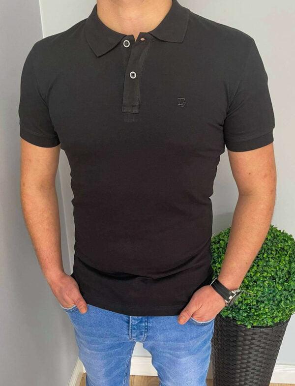 Czarna koszulka polo męska