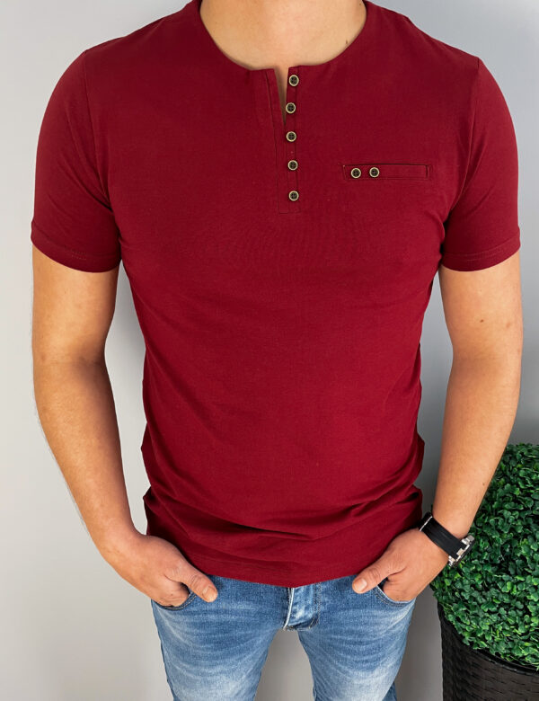 Koszulka męska bordowa