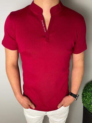 Bordowy t-shirt męski