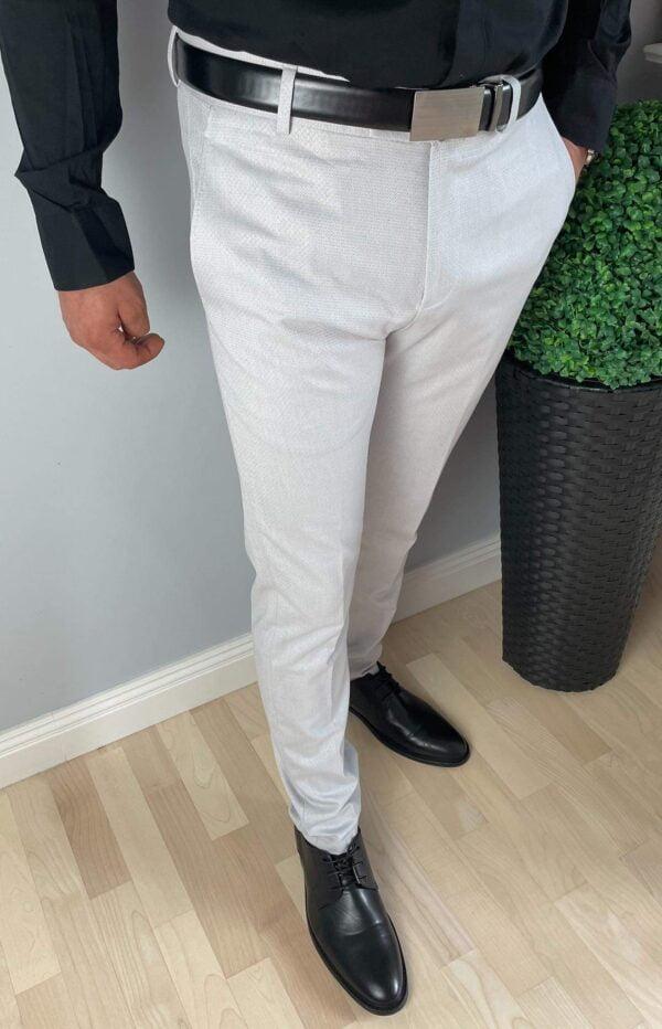 Szare wizytowe spodnie męskie