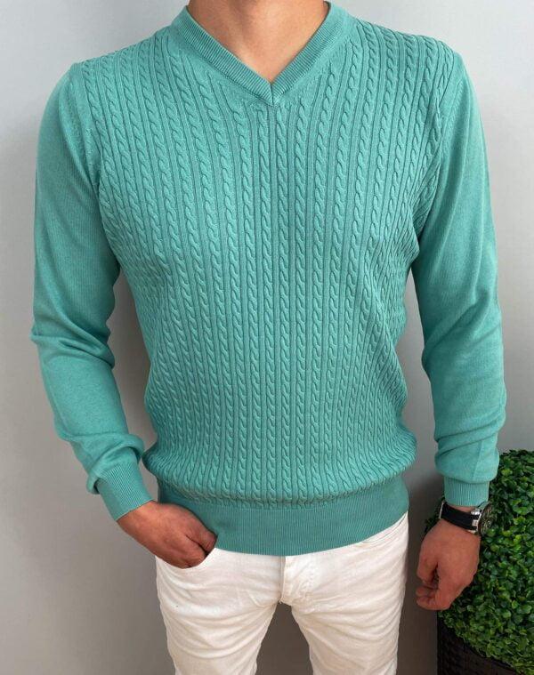Sweter męski miętowy