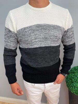 Czterokolorowy sweter męski
