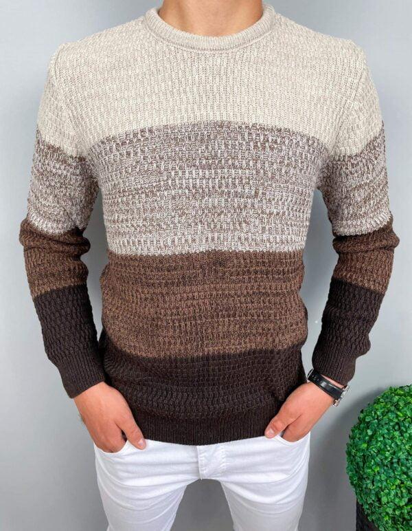 Sweter męski z dzianiny
